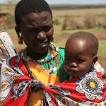 Masai'li bir anne (foto tarafımdan)